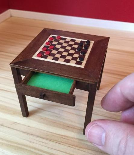 Miniature checkerboard table